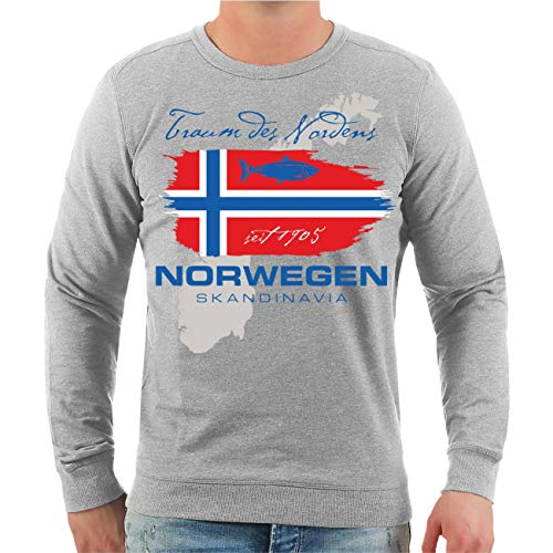 Spaß kostet Männer und Herren Pullover Norwegen Traum des Nordens Größe S - 4XL