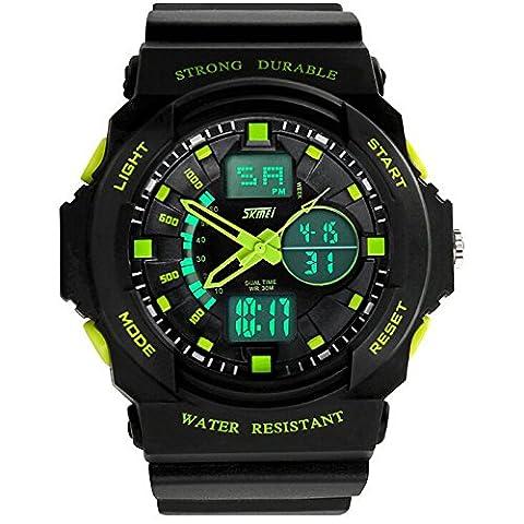 GL Funzione impermeabile uomo classico Business multifunzionale orologio quadrante rotondo,