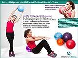 [2Stück] Mini Pilates Ball »Bola« Gymnastikball: Effektives Training gegen Verspannungen und Muskelschmerzen, in verschiedenen Größen (18cm 23cm 28cm & 33cm) und Farben (orange rot blau violett) erhältlich - 2
