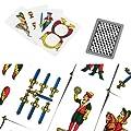 Fast World Shopping - Jeu de cartes napolitain, cartes plastifiées, pour jouer à la Scopa, Briscola ou solitaire italien