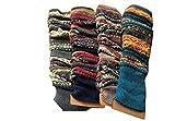 Luckystaryuan ® Black Friday femmes lot de 3 chaussettes de laine tricot jambière automne hiver botte (random color)