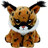 TY - Beanie Babies Larry, lince, 23 cm, color marrón (United Labels Ibérica 96306TY)