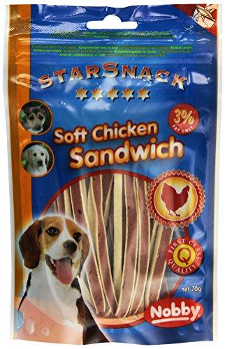Nobby STARSNACK Soft Chicken Sandwich 70 g, 4er Pack (4 x 70 g)