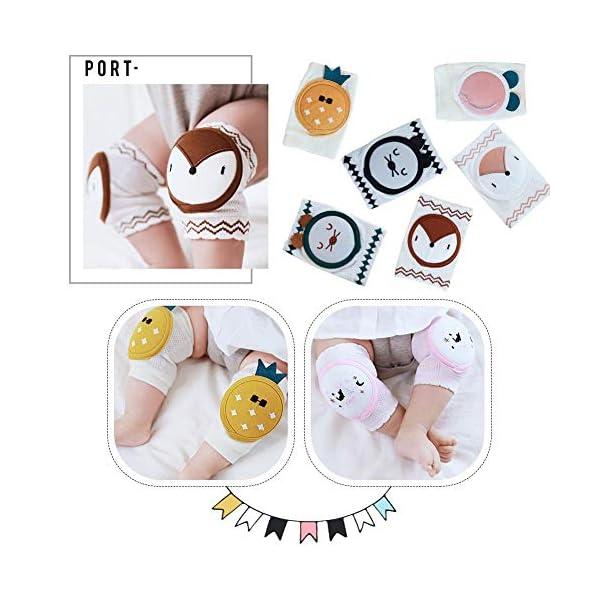 Exuberanter - 2 Rodilleras de algodón para Caminar en el Gato, Protectores de Rodilla para bebé Antideslizantes y… 3