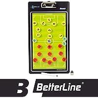 Premium tablero de entrenamiento por mejor línea–magnético portapapeles (doble cara, con rotulador elegir baloncesto, fútbol, voleibol o balonmano)–incluye imanes y marcador, Fútbol