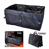 Coffre de rangement pour coffre de voiture pliable - Tissu Oxford robuste - Sac de rangement pour sac de rangement pliable portable (Noir)
