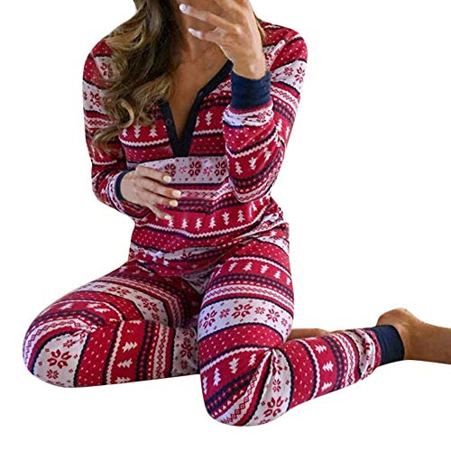 Mädchen langärmelige Weihnachten Schneemann Elternteil-Kind Hause Pyjama gesetzt,Frauen Mommy Snowflake Tops Blouse Pants Family Pajamas Matching Christmas Set ()