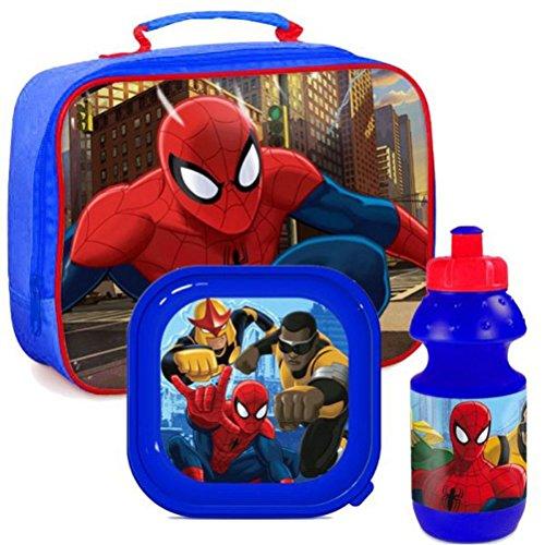 Set Pic Nic Spiderman Borsa Termica + Borraccia + Contenitore