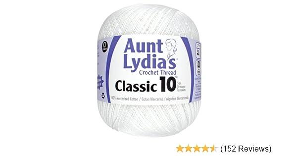 Other Coats Crochet Aunt Lydia/'s Classic Crochet Thread Size 10 Value-White Mu