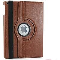 NUEVO diseño marrón piel sintética rotación de 360° Smart Stand Folio Cover Case para iPad Air 2