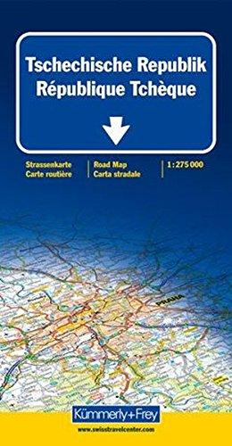 K+F Tschechische Republik 1 : 275 000: Sehenswürdigkeiten, Reiseinformationen, Distanzenkarte, Index (Kümmerly+Frey Strassenkarten)