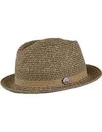 Chillouts Bayamo Hat Gr. L-XL [58-61] Pork Pie Hut aus Papierstroh in der Farbe Braun melange