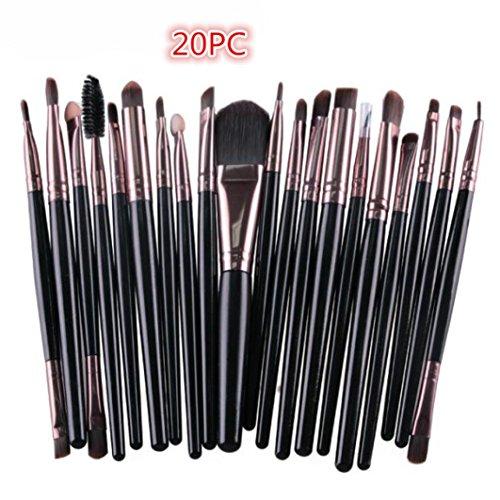 Sensail Pinceaux de maquillage Set 20 Pièces Premium Coloré Fondation Mélange Blush Yeux Visage Poudre Brosse Cosmétiques Maquillage Pinceaux Kit