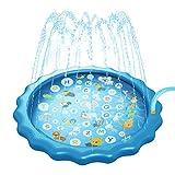Surenhap 68 inch kinderwatersprinkler pad baby waterspeelmat opblaasbaar gietkussen