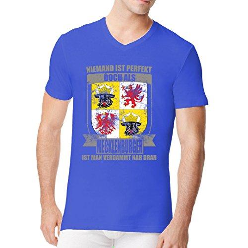 Fun Sprüche Männer V-Neck Shirt - Perfekter Mecklenburger Wappen by Im-Shirt Royal