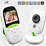 "Babyphone 2.4G - Baby monitor wireless a 2 vie, 2.4"", HD Videocamera digitale per bambini, dispositivo MitBaby Care"