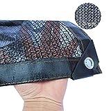 Toile d'ombrage noire, bord collé de tissu d'ombre à 50% avec oeillets, utilisé dans l'agriculture en serre de l'aquaculture de plantes (Size : 5×6M)