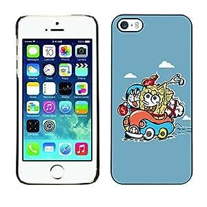 SoulCase Apple Iphone 5/5S Motif Illustration Bob Cartooon Doraemon/Slim Boîtier Coque en plastique Noir renforcée