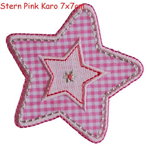 Stella Pink 7x7cm è un toppa termoadhesiva