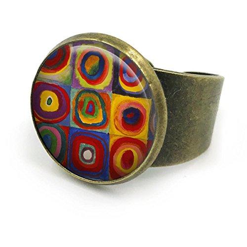 Butterfly N Beez Antike Bronze Kandinsky Ring Schmuck| Verstellbarer Ring| Band Ring| Kandinsky| Boho Schmuck| Geschenk für sie| Geschenk für Frauen| Brautjungfern Schmuck| Schmuck Geschenk | 14 - Bronze Ring