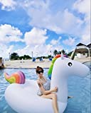 Giant Unicorn Pool Float Gonfiabile Ride-On Rainbow Party Tubo Piscina Float Raft - Party Party Loungers Giocattoli per Adulti e Bambini immagine