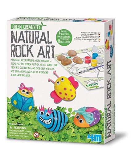 Green Creativity - Natural Rock Art - Kids Children Girls Boys - Arts & Crafts Kit - Number 1 Xmas Christmas Present Gift Fun Toys & Games Idea Age 5+