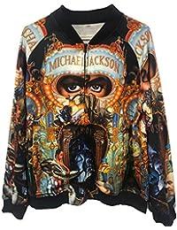 Abrigos Chaquetas de Michael Jackson Abrigos de Sudadera con Impresión 3D Punk Abrigos