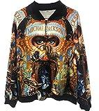 Michael Jackson Dangereux Vestes Manteaux Impression 3D Sweat Tops Punk Casual Mince Manteaux