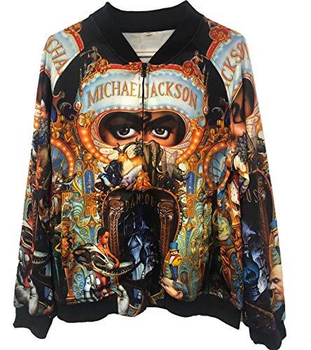 Abrigos Chaquetas de Michael Jackson Abrigos de Sudadera con...