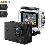 MGcool Pro Action Kamera 4K mit 2X Akkus FHD 16MP Actioncam 170° Ultra Weitwinkel Soport Cam 1080P/60fps Unterwasser Action Camera mit Montage Zubehör