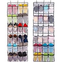 c7718ec9706a9 Aedo Rangement des Chaussures à Suspendre Derrière de Porte 24 Poches  épargne d espace Organisateur