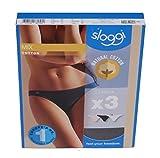 sloggi - mix coton - lot de 3 tanga femme taille fr:42 (fabricant: 40)