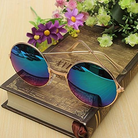 OUTERDO Occhiali Tondi da Sole Retro Occhiali da Sole Unisex Occhiali per Gli Uomini e (Occhiali da sole)