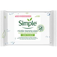 Simple Kind To Skin Micellar Cleansing Wipes Facial Wipes For Sensitive Skin No Added Perfume, No Harsh Chemicals, No…