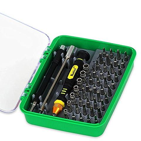 Homeself 51 en 1 Kit Professionnel polyvalent de tournevis, tournevis magnétique et Electronics Kit d'outils de réparation pour téléphones portables, appareils photo, Montres, appareils, petit et grand