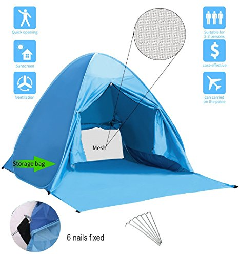 BestFire Outdoor Automatic Pop up Instant Portable Cabana Beach Tent ...  sc 1 st  UK Sports Outdoors C&ing Hiking Jogging Gym fitness wear Yoga & BestFire Outdoor Automatic Pop up Instant Portable Cabana Beach ...
