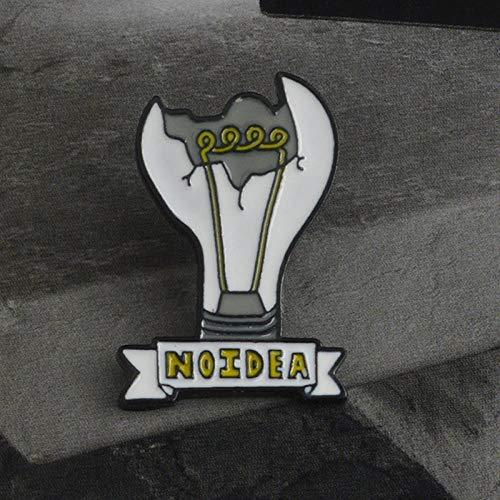 ZWLZQ Broschen Brosche Emaille Pin Glühbirne/Streichhölzer/Fisch Teekanne Brosche Button Legierung Emaille Brosche Jeansjacke Rucksack Shirt Schmuck Glühbirne