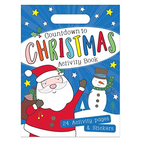 The Home Fusion Azienda per Bambini Bambini Conto Alla Rovescia a Natale Libro Attività 24 Natale Attività Pagine & Adesivi