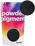 Pigments en poudre Hemway - Pigments de couleur, ultra brillants - De luxe - Pigments métalliques pour résine époxy et peinture polyuréthane., noir