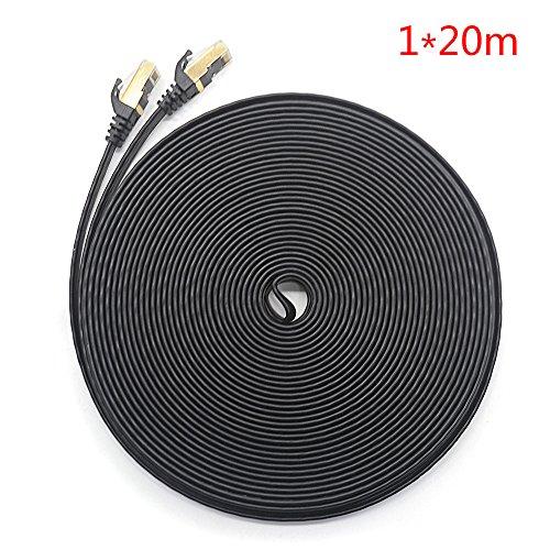 Rayinblue Ethernet-Kabel, 20M, schwarz, Stück: 1