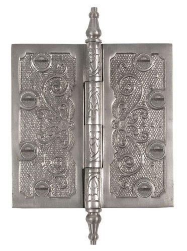 Messing Elegans lf004pwt massivem Messing Lafayette Design 3Zoll Dekorative Tür Scharnier mit Messing Schrauben, Zinn-Finish - Lafayette Tür