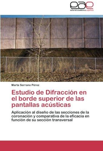 Estudio de Difracción en el borde superior de las pantallas acústicas: Aplicación al diseño de las secciones de la coronación y comparativa de la eficacia en función de su sección transversal