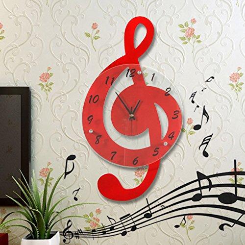 Preisvergleich Produktbild Kreative uhr,note zimmer wand clock,uhr,dekorative mute art watch,kleine-B
