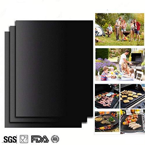 Ram® 4 x Teflon-Antihaft-Backofeneinlage Heavy Duty BBQ Grillmatte für Ventilatorofen, 40 x 50 cm -