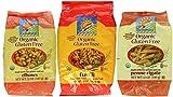 Bionaturae Organic Gluten-Free Italian Pasta 3 Shape Variety Bundle: (1) Elbows, (1) Fusilli, and (1) Penne Rigate, 12 Oz. Ea