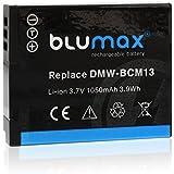 Blumax Batterie li-ion 3.7V 1050mAh 3,9Wh pour de type de type Panasonic bcm13/bcm13e