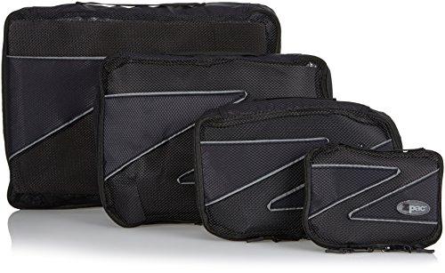 Zpac packing cubes - Organizzatore per la valigia, 4 pezzi (Extra grande, grande, medio, piccolo) (Nero)
