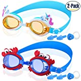 COOLOO Kids Swim Goggles, Pack of 2, Swimming Goggles for Children and Early Teens from 3 to 12 Years Old