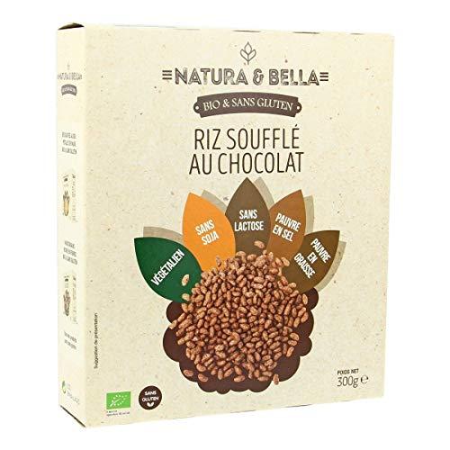 Natura & Bella - Riz Soufflé Au Chocolat Sans Gluten 300G Bio - Lot De 4 - Livraison Rapide En France - Prix Par Lot