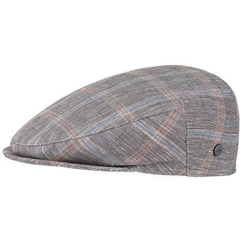 Casquette Inglese Melange Check Lierys casquette en lin casquette d´ete gris fonce